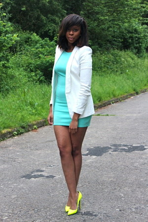 Christian Louboutin heels - prim dress - Zara blazer