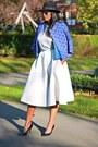 Fedora-h-m-hat-blue-marni-blazer-blue-asos-bag