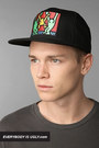 black obey hat