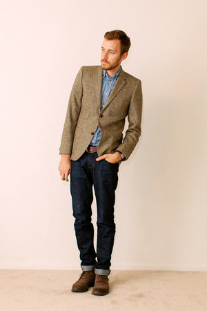 1901 boots - Doctrine Denim jeans - H&M blazer