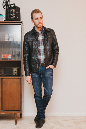 faux leather Charles and a Half jacket - Zara shoes - Doctrine Denim jeans
