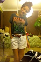 Gap belt - H&M shirt - Gap shorts