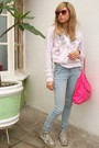 Silver-pull-and-bear-shoes-blue-liber-jeans-jeans-pink-zara-sunglasses-pur
