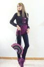 Purple-bershka-t-shirt-black-zara-trf-jeans-purple-beerklees-boots-pink-za