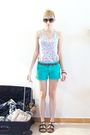 Blue-pull-and-bear-t-shirt-green-zara-kids-shorts-black-chloe-shoes-pink-z