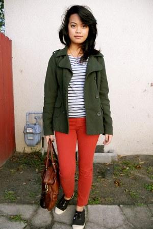 Target jacket - H&M top - UO pants - the sak purse