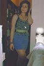 Green-bukhara-top-blue-topshop-skirt-green-belt