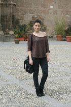 dark brown Jennifer sweater - black Tally Weijl sneakers