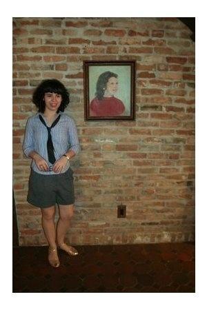 steven alan shirt - Vintage from Buffalo tie - Sonia Rykiel shorts - Chie Mihara
