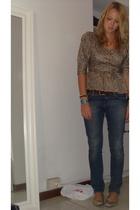 vintage blouse - H&M jeans - vintage belt