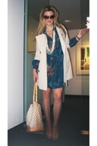 coco california dress - Burberry coat - Marc by Marc Jacobs shoes - Louis Vuitto