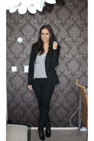 black Zara blazer - black Topshop shoes
