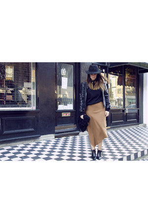 Zara skirt - PERSUNMALL boots - Louis Vuitton bag
