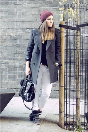 ISABEL MARANT POUR H&M coat - PROENZA SCHOULER bag - Bershka sneakers