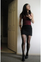 Old Navy top - American Apparel skirt - Urban Outfitters tights -