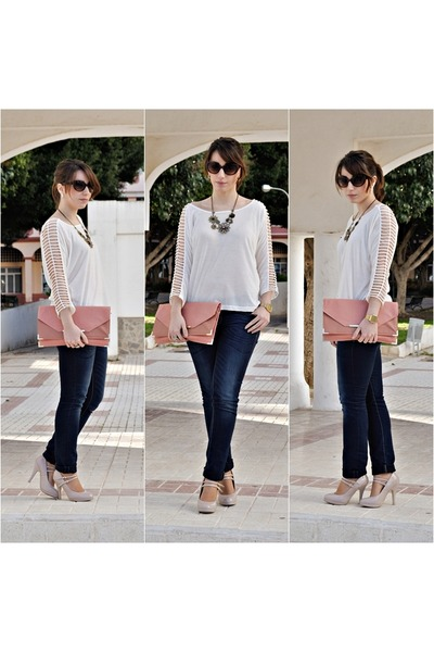 Dorothy Perkins bag - clockhouse jeans - Dunnes heels - OASAP top