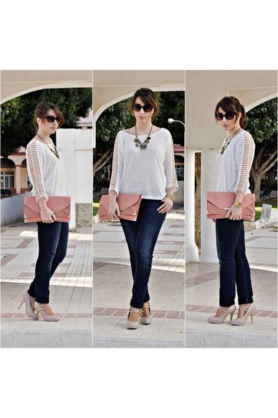 Dorothy Perkins bag - clockhouse jeans - Dunnes heels - OASAP top
