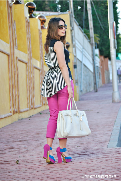 BLANCO bag - Savida pants - Passarela heels - Sheinside blouse