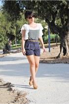 OASAP blouse - Dunnes shorts - Dunnes belt - Marypaz heels