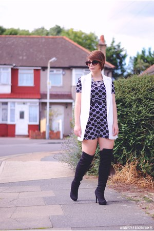 Poppy Lux dress - new look boots - Chicwish vest
