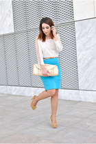 OASAP top - Xaro sastre bag - Dunnes belt - Marypaz heels - H&M skirt