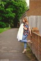 OASAP top - clockhouse jeans - Topshop jacket - new look heels
