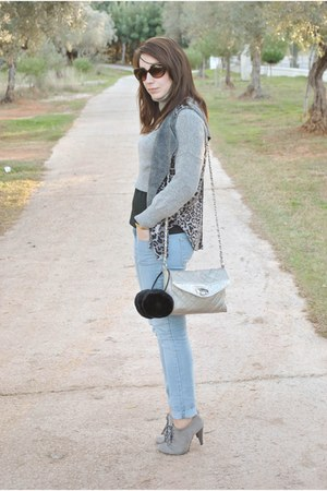 Marypaz boots - clockhouse jeans - Mango sweater - Dunnes bag - romwe vest