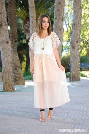 chicnova top - DressLink skirt - Kiabi heels