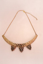 Cheetah collar necklace