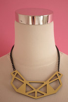 Geometry cut-out necklace
