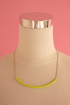 Neon tube necklace - yellow