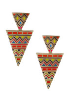 Triange aztec earrings - orange