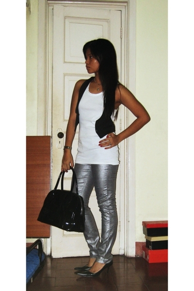 Topshop vest - Charles and Keith accessories - - F and H pants - janilyn - Mango