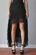 Beatriz High-Low Black Skirt 
