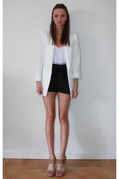 Zara blazer - American Apparel top - GINA TRICOT shorts - shoes
