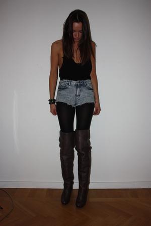 Topshop top - Topshop shorts - boots