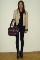 Zara jacket - vintage sweater - Monki tights - Sonia Rykiel purse - Don&Donna sh