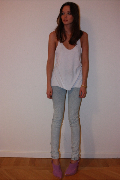 Zara top - GINA TRICOT jeans - TopShop Unique shoes