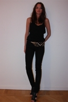acne top - acne jeans - vintage belt - Zara shoes
