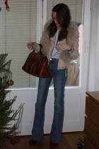 Zara jacket - Topshop vest - Ralph Lauren shirt - acne jeans - Topshop shoes - C