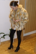 vintage jacket - Topshop tights - Topshop shoes