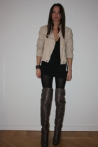 Zara jacket - top - Topshop boots - Punkt shop accessories