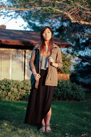 River Island skirt - jacket - American Apparel top