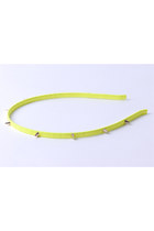 Neon Yellow Spiked Headband