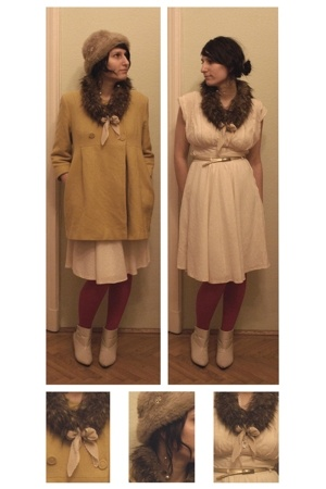 coat - skirt - blouse - from a flea market hat - scarf - Deichmann boots
