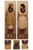 coat - skirt - blouse - from a flea market hat - scarf - Deichmann boots