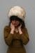 ivory tuscan lamb fur vintage hat