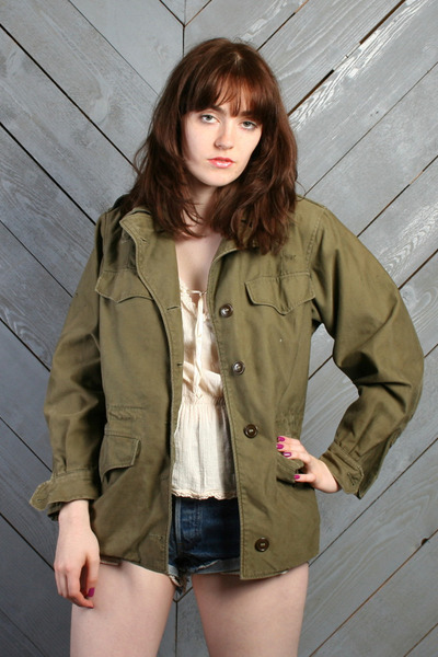 army green vintage jacket