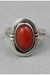 brick red vintage ring