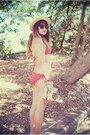 Red-mambo-swimwear-neutral-oasap-hat
